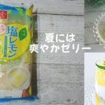 夏にぴったり和風デザート「塩レモン」シチリア産レモン果汁ゼリー